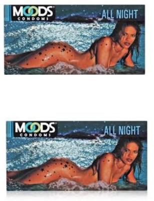 Moods All Night Condoms (24 Condoms) - Pack of 2