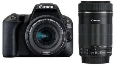 Canon EOS 200D DSLR Camera EF-S18-55 IS STM EF-S 55-250 IS STM(Black) 1