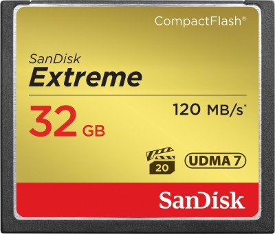 SanDisk Extreme 32 GB Compact Flash UDMA 7 120 MB/s Memory Card