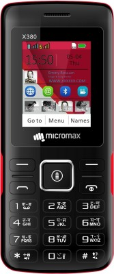 Micromax X380(Black&Red)