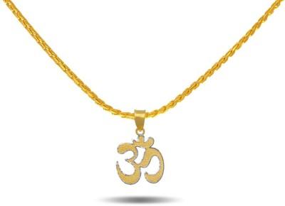 P.N.Gadgil Jewellers Hindu Om 22kt Yellow Gold, White Gold Pendant P.N.Gadgil Jewellers Pendants   Lockets