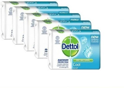 Dettol Cool with Crispy Menthol Soap 4 x 75G (Pack of 5)(5 x 75 g)
