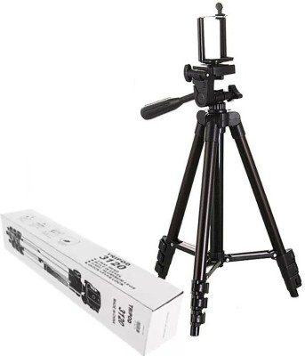 BUY SURETY Good Quality Tripod-3120 Portable Adjustable Aluminum lightweight compact stand With Three-Dimensional Head & Quick Release Plate Tripod professional tripod video Camera Tripod/phone tripod Mount For All Smartphone Tripod(Black, Supports Up to 1500 g) 1