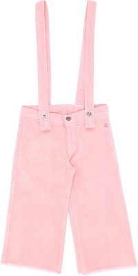 GINI & JONY Capri For Girls Casual Solid Corduroy(Pink Pack of 1)