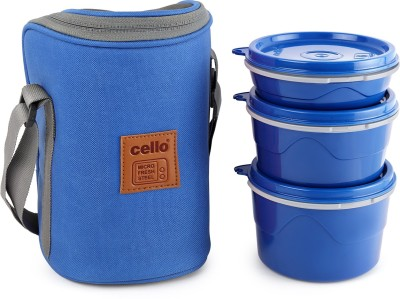 cello Hot Wave Microwavable Lunch Box 3 Containers Lunch Box(150 ml)