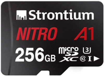 Strontium Nitro A1 256 GB MicroSDXC Class 10 100 MB/s Memory Card(With Adapter)