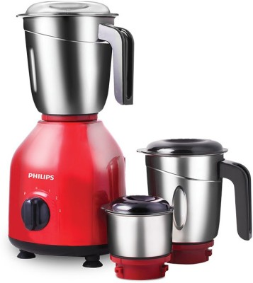 Philips Daily Collection HL7756/03 750 W Mixer Grinder (Red, Black, 3 Jars)
