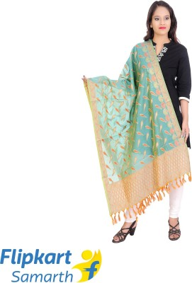 Anuna Cotton Silk Embroidered Women Dupatta at flipkart
