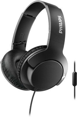 Philips SHL3175BK Wired Headset(Black, Wired over the head)