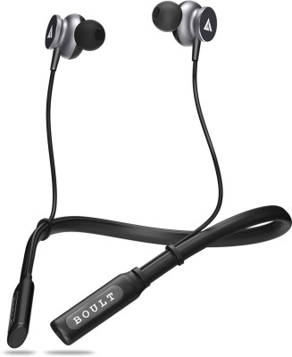 Boult Audio ProBass Curve Neckband Bluetooth Headset with Mic(Black, Grey, In the Ear)