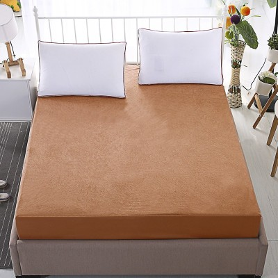 Dream Care Fitted Twin Size Waterproof Mattress Protector(Gold)
