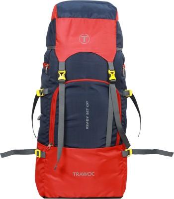 TRAWOC SHK7-RED-Trekking Bag Hiking Backpack Travel Rucksack  - 55 L(Red)