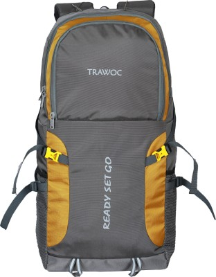 TRAWOC SHK5-GREY-Trekking Bag Hiking Backpack Travel Rucksack  - 55 L(Grey)