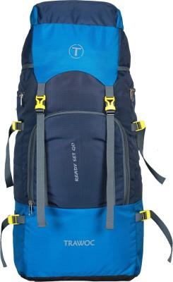 TRAWOC SHK7-BLUE-Trekking Bag Hiking Backpack Travel Rucksack  - 55 L(Blue)