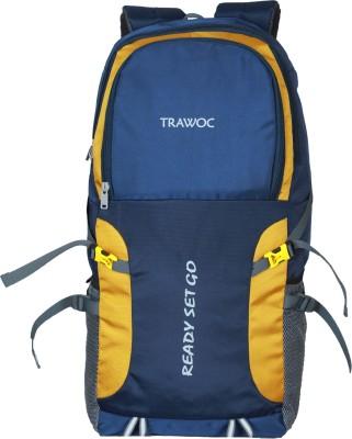 TRAWOC SHK5-NB-Trekking Bag Hiking Backpack Travel Rucksack  - 55 L(Blue, Black)