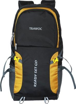 TRAWOC SHK5-BLACK-Trekking Bag Hiking Backpack Travel Rucksack  - 55 L(Black)