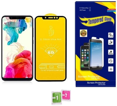 HIE POWER Edge To Edge Tempered Glass for Asus Zenfone Max M1 (Premium 6D 9H Full Glue)(Pack of 1)