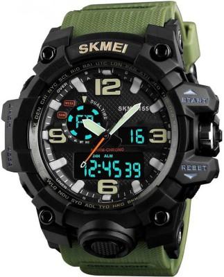 SKMEI 1155 green 1155 Analog Digital Watch   For Men SKMEI Wrist Watches