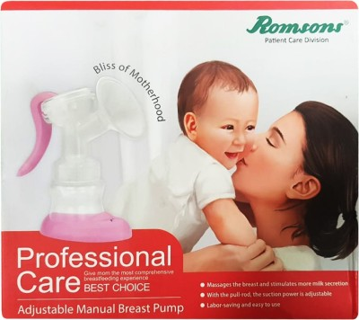 Romsons PROFESSIONAL CARE MANUAL BREAST PUMP  - Manual(PINK AND WHITE)