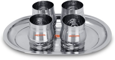 PEEZSTEEL Stainless Steel G4-12 Glass Set(Steel, 350 ml, Steel, Pack of 12)