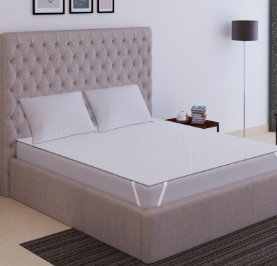 Dream Care Fitted King Size Waterproof Mattress Protector(White)