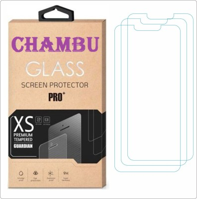 CHAMBU Edge To Edge Tempered Glass for Micromax A89 Ninja(Pack of 3)