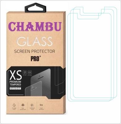 CHAMBU Edge To Edge Tempered Glass for LAVA Iris 349 Sleek(Pack of 3)