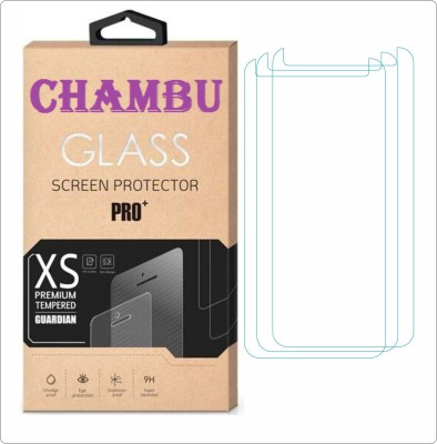 CHAMBU Edge To Edge Tempered Glass for MICROMAX A116i CANVAS HD(Pack of 3)