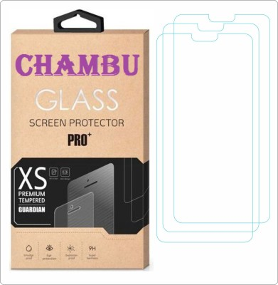 CHAMBU Edge To Edge Tempered Glass for Lava Mobiles Iris 401e(Pack of 3)