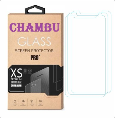 CHAMBU Edge To Edge Tempered Glass for LAVA IRIS 360 MUSIC(Pack of 3)