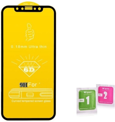 NaturalBuy Edge To Edge Tempered Glass for Nokia 6.1Plus (6D Full Glue Tempered Glass)(9H Tempered Glass)(Pack of 1)