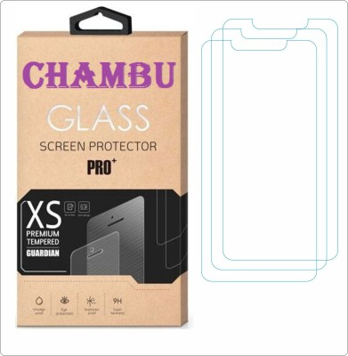 CHAMBU Edge To Edge Tempered Glass for Micromax Bolt A61(Pack of 3)