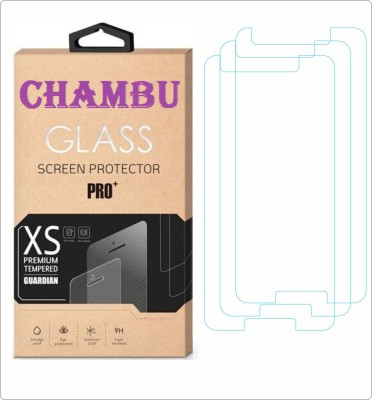 CHAMBU Edge To Edge Tempered Glass for Karbonn Smart A51 Plus(Pack of 3)