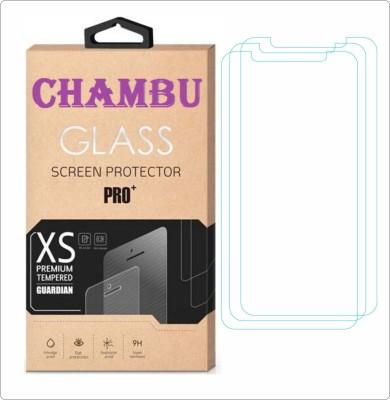 CHAMBU Tempered Glass Guard for Intex Aqua Glam(Pack of 3)