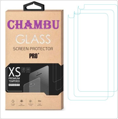 CHAMBU Tempered Glass Guard for Micromax Bolt A67(Pack of 3)