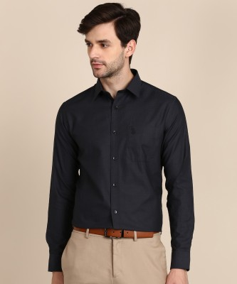 U.S. Polo Assn Men Self Design Formal Black Shirt at flipkart