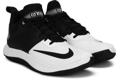 Nike Fly.By Low II Basketball Shoe For Men(Black, Off White) at flipkart