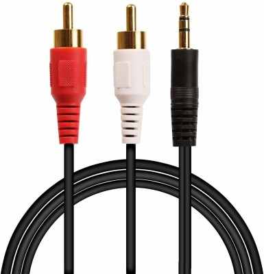 finest TV out Cable AUX 2RC Black, For Home Theater, 1.5 m finest Mobile Cables