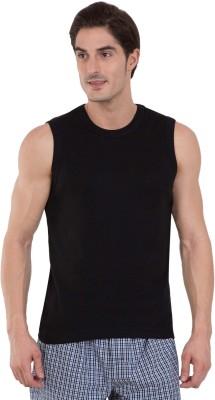 Jockey Solid Men Round Neck Black T-Shirt