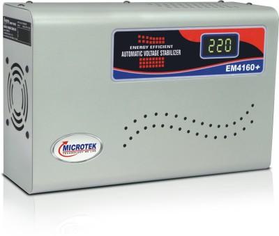 Microtek EM4160+ Digital Display For AC upto 1.5Ton  160V 285V  Voltage Stabilizer Grey Microtek Voltage Stabilizers