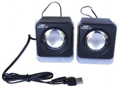 Terabyte KUBIX 2W Speakers 2 W Laptop/Desktop Speaker(Black, 2.0 Channel)