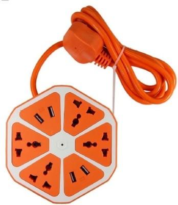 Miran Hexagon Socket Extension Board 6 Socket Extension Boards Orange