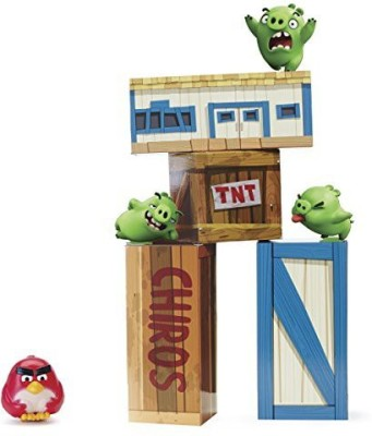 Angry Birds Vinyl Knockout Playset(Multicolor)