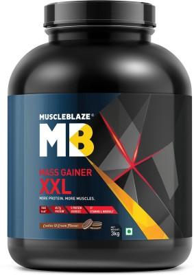 MuscleBlaze Mass Gainer XXL, 3 KG/6.6 LB Cookies & Cream