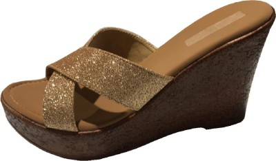 ds daleep Women Gold Wedges ds daleep Wedges