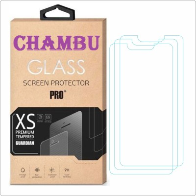 CHAMBU Edge To Edge Tempered Glass for Spice Smart Flo Ivory 2 Mi-423(Pack of 3)