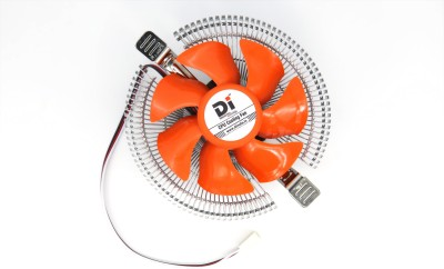 Di International CPU Cooler Fan Compatible With 775 & 1156 & Amd Socket Cooler(Multicolor)