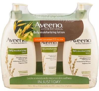 Aveeno Daily Moisturizing Lotion 18 oz x 2 Bottles with Bonus 2.5 oz(1065 ml)