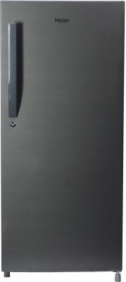 Haier 195 L Direct Cool Single Door 4 Star Refrigerator(Brushline Silver, HRD-1954CBS-E)