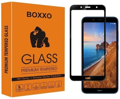 Boxxo Edge To Edge Tempered Glass for Mi Redmi 7A(Pack of 1)